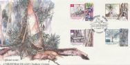 21/08/1991 Christmas Island FDC Local Trees set of 4